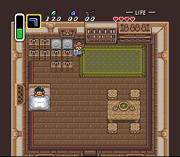 Legend of Zelda, The - A Link to the Past - Misc Cameo - A Mario painting... nice - User Screenshot